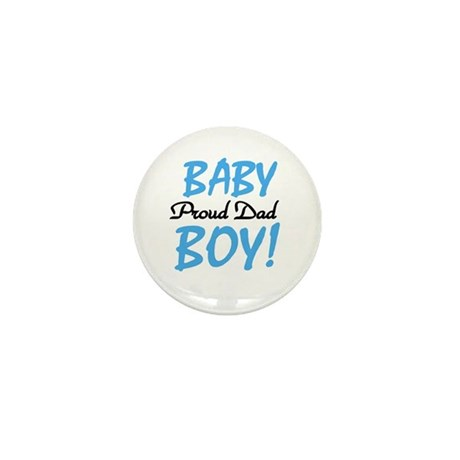 Baby Boy Proud Dad Mini Button