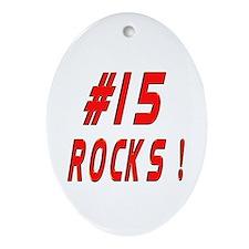 15 Rocks ! Oval Ornament
