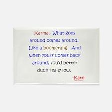 Kate's Karma Rectangle Magnet