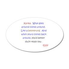 Kate's Karma 22x14 Oval Wall Peel