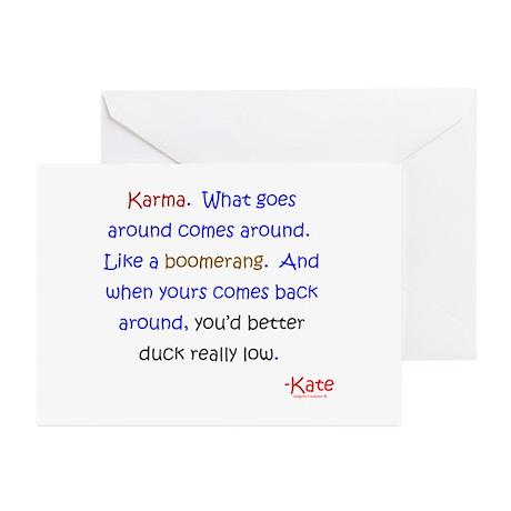 Kate's Karma Greeting Cards (Pk of 10)