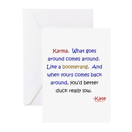 Kate's Karma Greeting Cards (Pk of 20)
