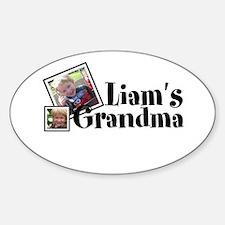 Customizable Name Grandma Sticker (Oval)