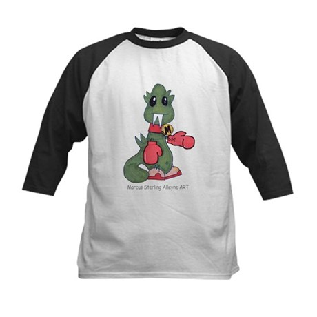 AlleyneART Tees MarcuSaurus Kids Baseball Jersey