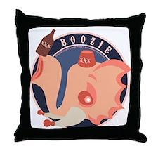 Boozie the Drunk Elephant Throw Pillow
