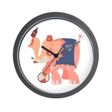 Boozie the Drunk Elephant Wall Clock
