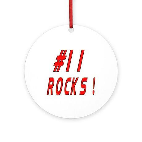 11 Rocks ! Ornament (Round)