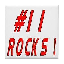 11 Rocks ! Tile Coaster
