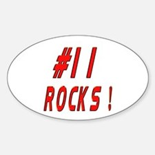 11 Rocks ! Oval Decal