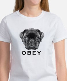 Black Pug Obey - Women's T-Shirt T-Shirt