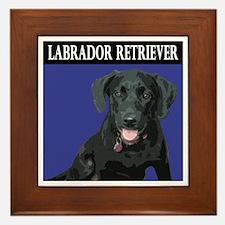 Labrador Retriever puppy Framed Tile