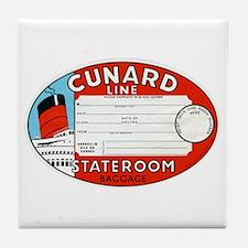 Cunard luggage tag Tile Coaster