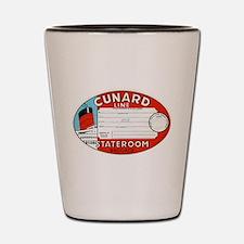 Cunard luggage tag Shot Glass