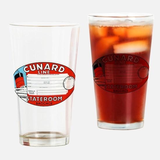 Cunard luggage tag Drinking Glass