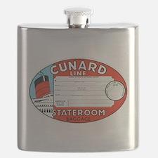 Cunard luggage tag Flask