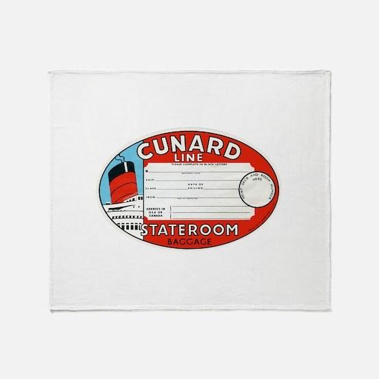 Cunard luggage tag Throw Blanket
