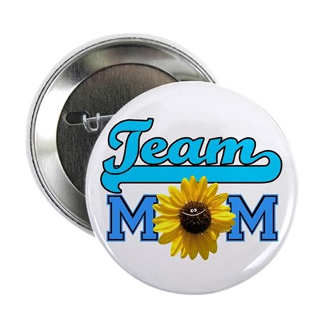 Team Mom sunflower Button