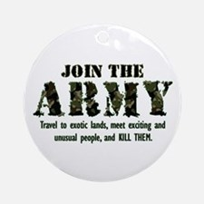 Join the Army Ornament (Round)
