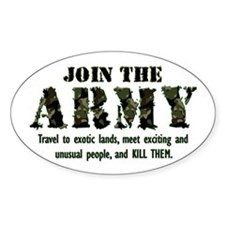 Join the Army Oval Decal