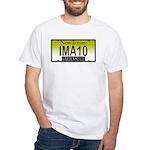 I'M A 10 NJ Vanity Plate White T-Shirt