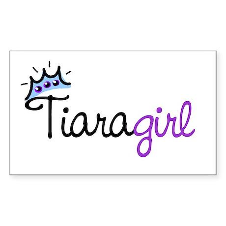 Tiara Girl Rectangle Sticker