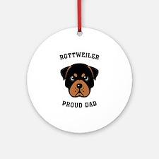 Rottweiler Proud Dad Ornament (Round)