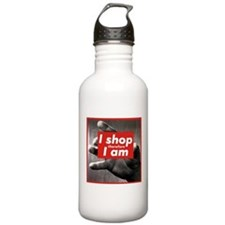 I shop therefore I am Water Bottle