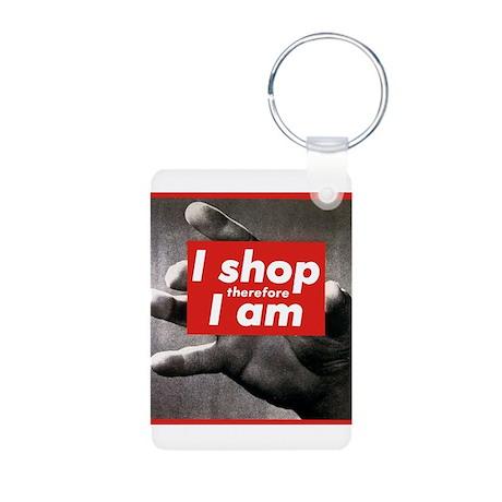 I shop therefore I am Aluminum Photo Keychain