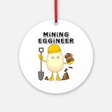 Mining Eggineer Ornament (Round)