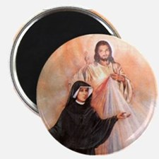 Saint Faustina and Divine Mercy Magnet