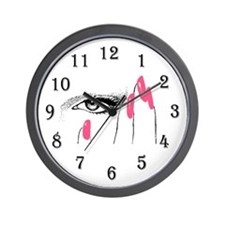 Cute Pink rose Wall Clock