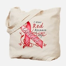 I Wear Red Because I Love My Uncle Tote Bag