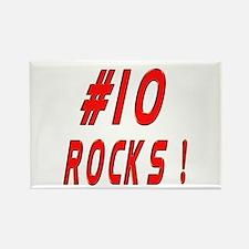 10 Rocks ! Rectangle Magnet
