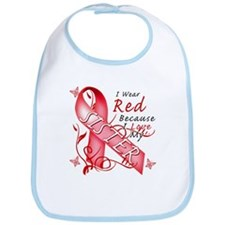 I Wear Red Because I Love My Sister Bib
