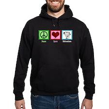 Peace Love Dalmatians Hoody