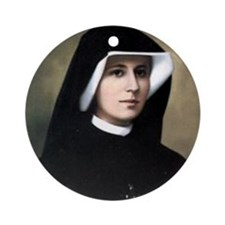 Saint Faustina Ornament (Round)