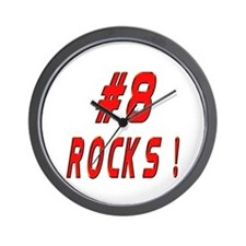 8 Rocks ! Wall Clock