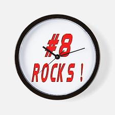 8 Rocks ! Wall Clock