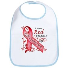 I Wear Red Because I Love My Grandpa Bib