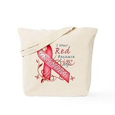 I Wear Red Because I Love My Grandpa Tote Bag