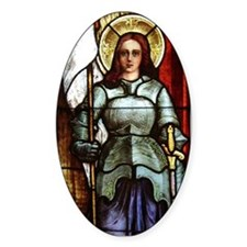 Saint Joan of Arc Oval Decal