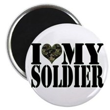 """I Love My Soldier 2.25"""" Magnet (100 pack)"""