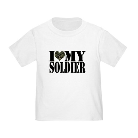 I Love My Soldier Toddler T-Shirt