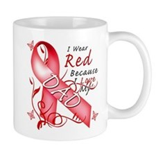 I Wear Red Because I Love My Dad Mug