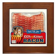 """""""Kitten Bacon"""" fine art Framed Tile"""