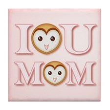 I [heart] YOU MOM Tile Coaster