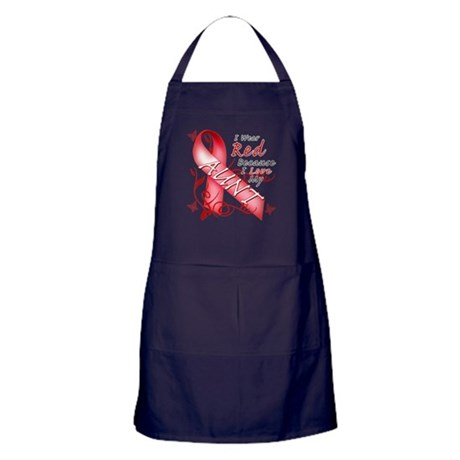 I Wear Red Because I Love My Aunt Apron (dark)