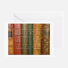 """""""Quiescit Anima Libris"""" Greeting Card"""