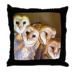 Third Clutch Owlets Throw Pillow