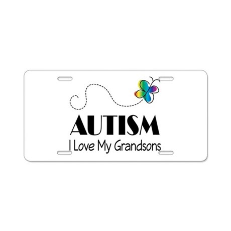 Autism I Love My Grandsons Aluminum License Plate
